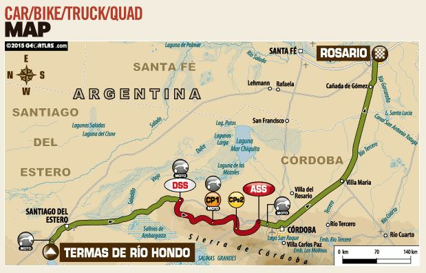 route dakar 2015 stage 12